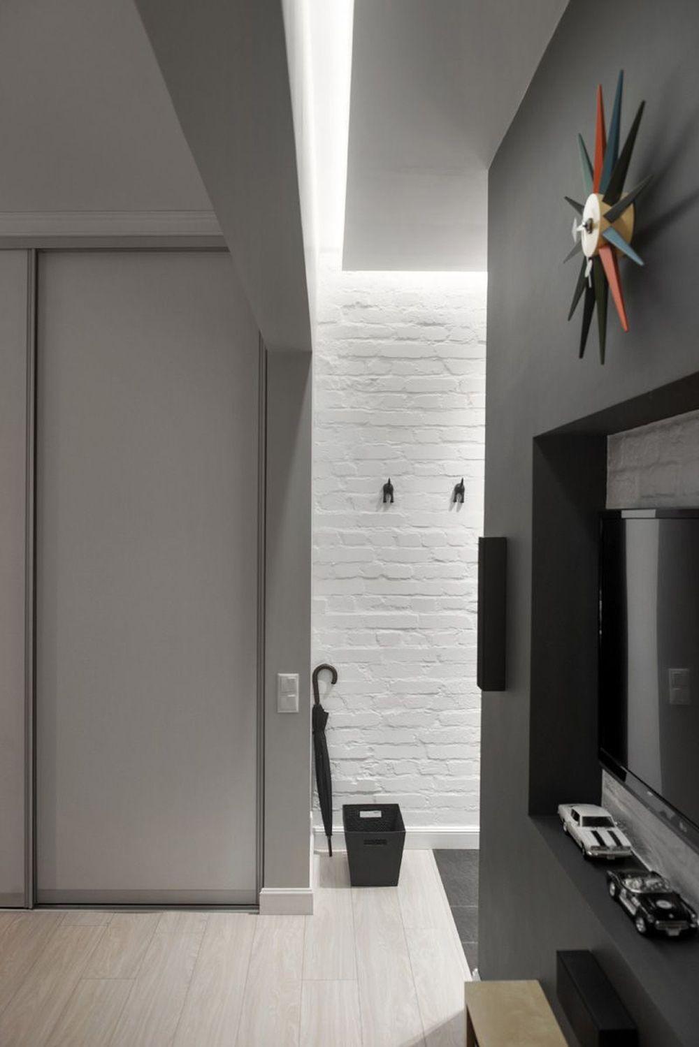 adelaparvu.com despre amenajare garsoniera 30 mp, design interior m2project (19)