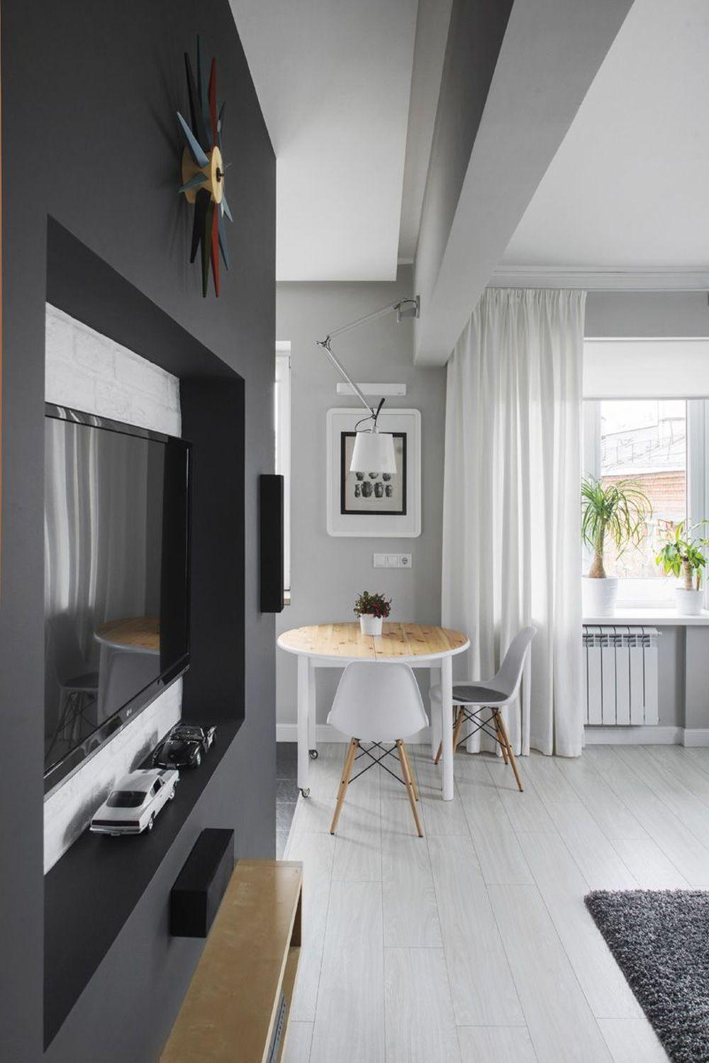 adelaparvu.com despre amenajare garsoniera 30 mp, design interior m2project (4)