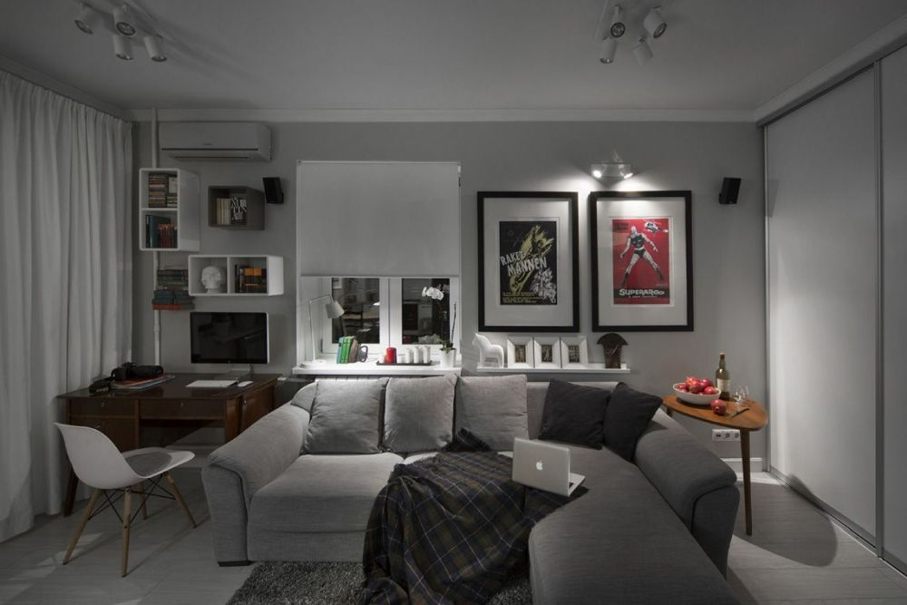 adelaparvu.com despre amenajare garsoniera 30 mp, design interior m2project (6)