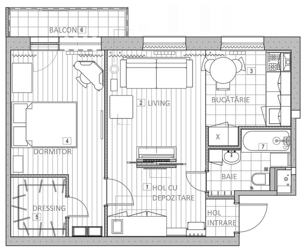 adelaparvu.com despre apartament 48 mp, stil provensal, Designer Svetlana Krasnova, Foto Natalia Kupriyanova (1)