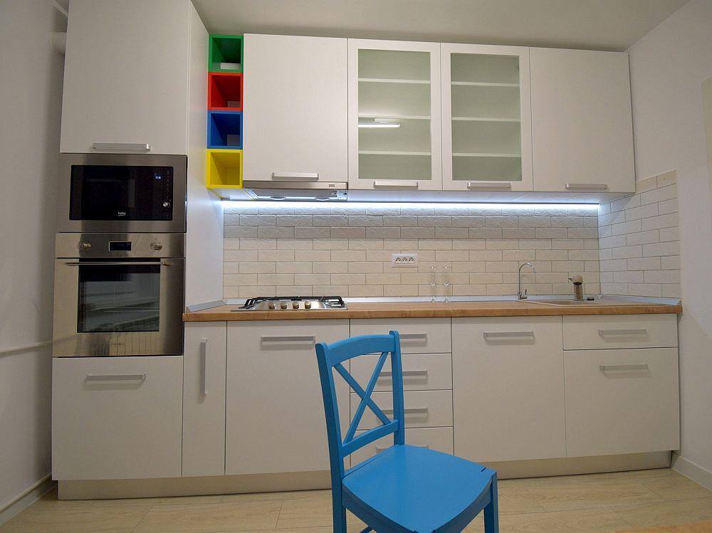 Mobila de bucătărie după renovarea locuinței.
