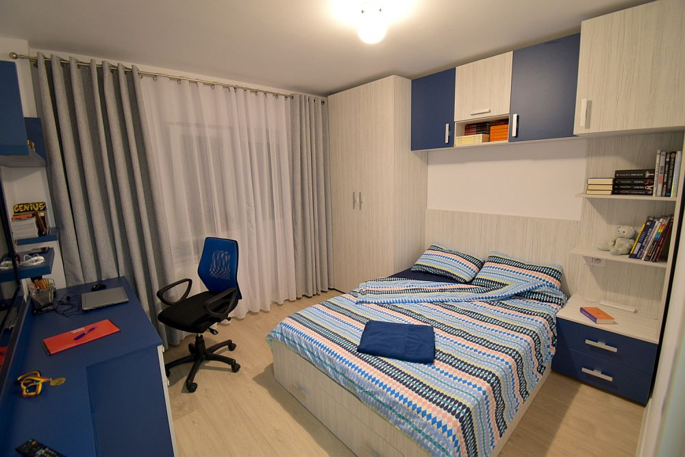 Al treilea dormitor așa cum arată după renovarea locuinței.