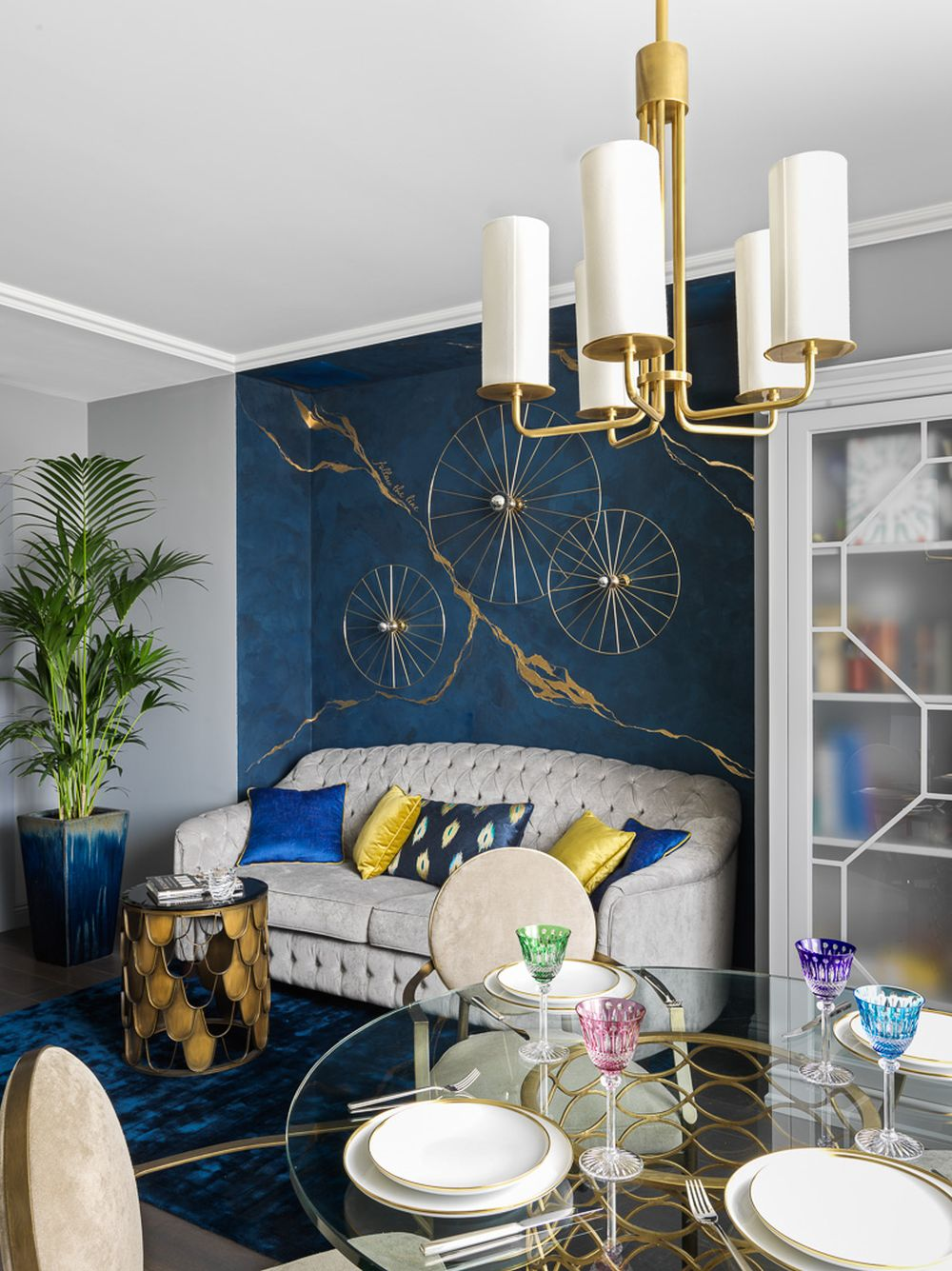 adelaparvu.com despre apartament elegant 90 mp, Moscova, designer Zhenya Zhdanova, Foto Maria Irinarkhova si Stephan Julliard (1)