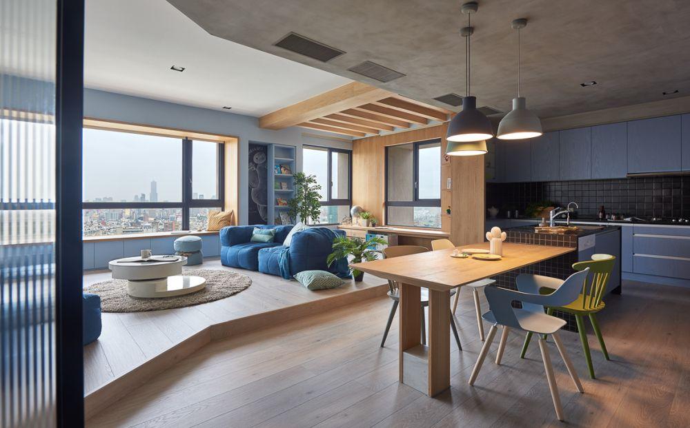 adelaparvu.com despre apartament in stil contemporan, Taiwan, design HAO Design (1)