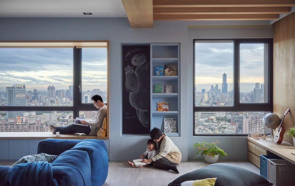 adelaparvu.com despre apartament in stil contemporan, Taiwan, design HAO Design (3)