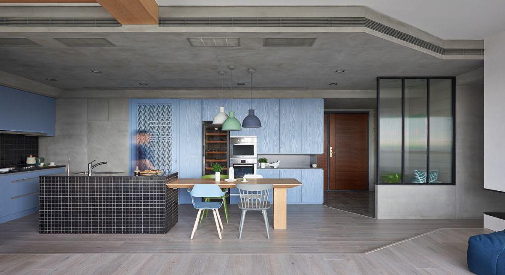 adelaparvu.com despre apartament in stil contemporan, Taiwan, design HAO Design (4)