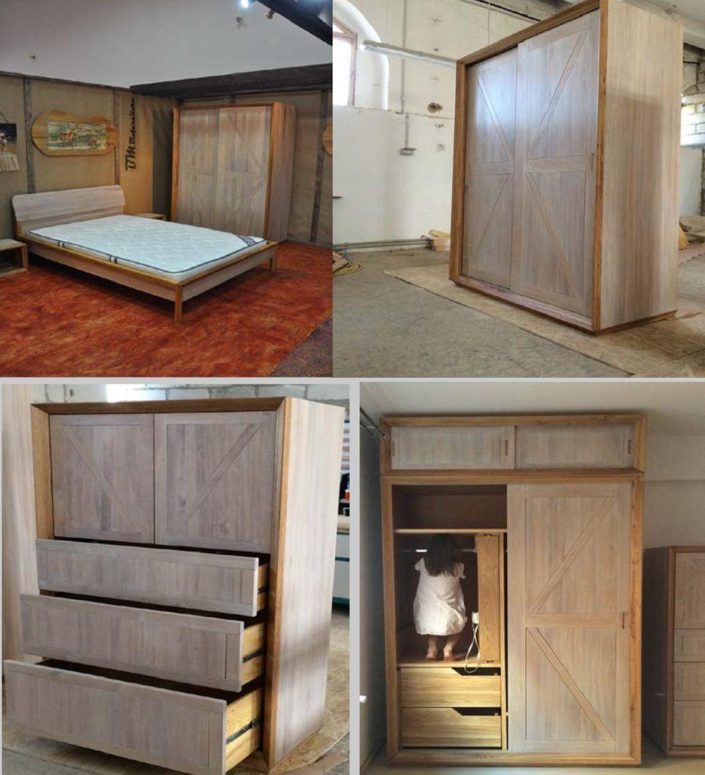 adelaparvu.com despre dormitoare din lemn masiv de stejar, Biomobila Suceava, Romania (8)