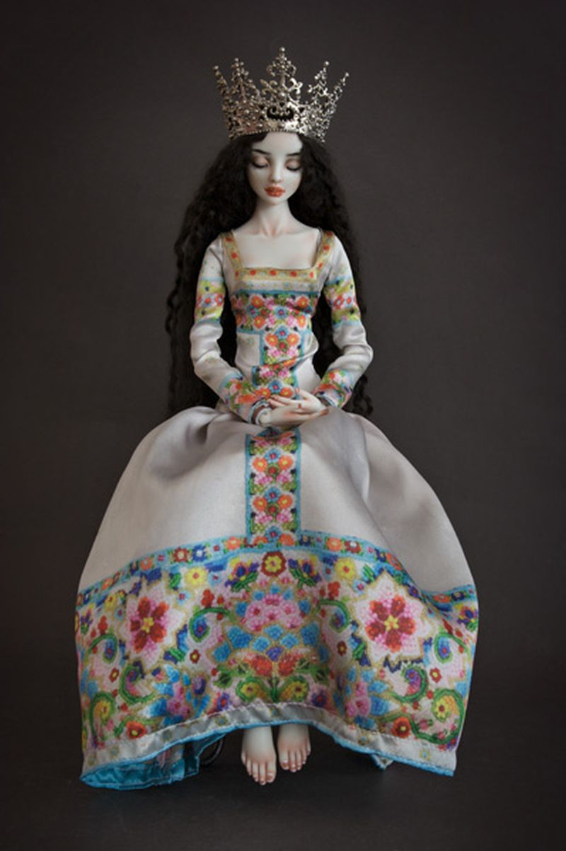 adelaparvu.com despre papusi din portelan, Enchanted Doll, artist Marina Bychkova, in foto model Banshee