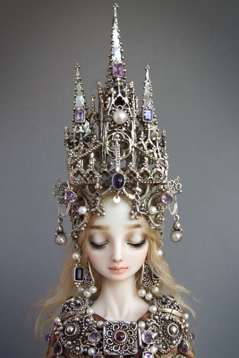 adelaparvu.com despre papusi din portelan, Enchanted Doll, artist Marina Bychkova, in foto model Cathedral (2)