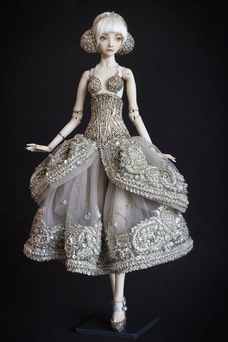 adelaparvu.com despre papusi din portelan, Enchanted Doll, artist Marina Bychkova, in foto model Cinderella (1)