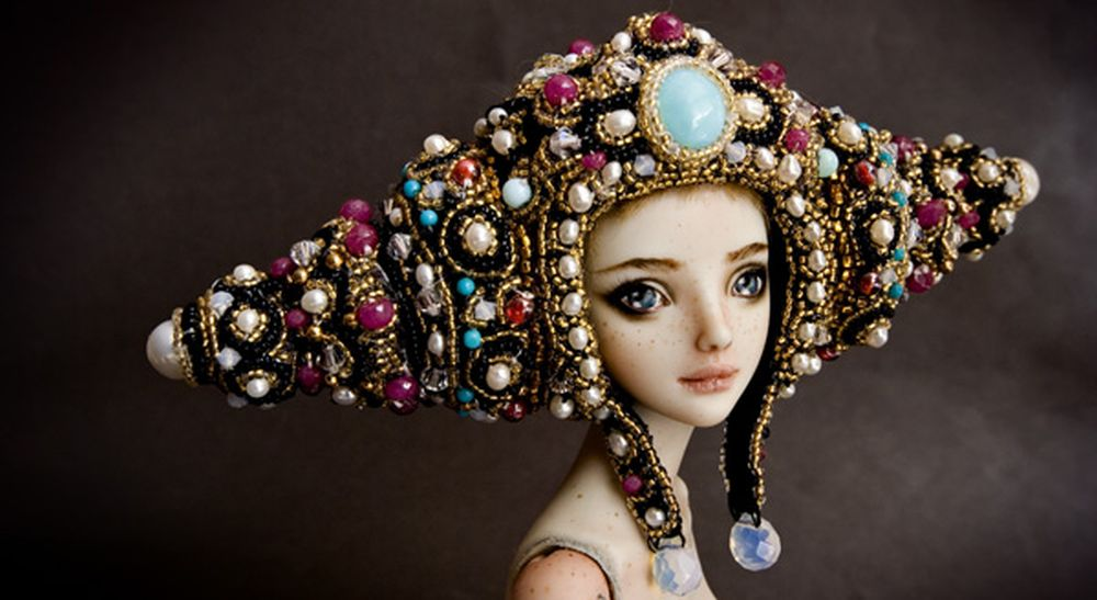 adelaparvu.com despre papusi din portelan, Enchanted Doll, artist Marina Bychkova, in foto model Cosmos