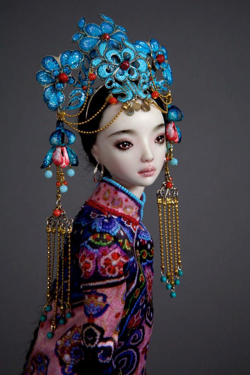 adelaparvu.com despre papusi din portelan, Enchanted Doll, artist Marina Bychkova, in foto model Echo