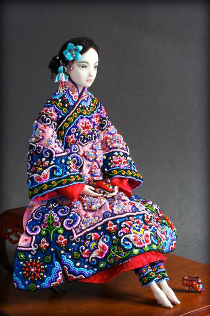 adelaparvu.com despre papusi din portelan, Enchanted Doll, artist Marina Bychkova, in foto model Lotus