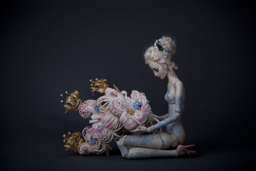adelaparvu.com despre papusi din portelan, Enchanted Doll, artist Marina Bychkova, in foto model Madame P (1)