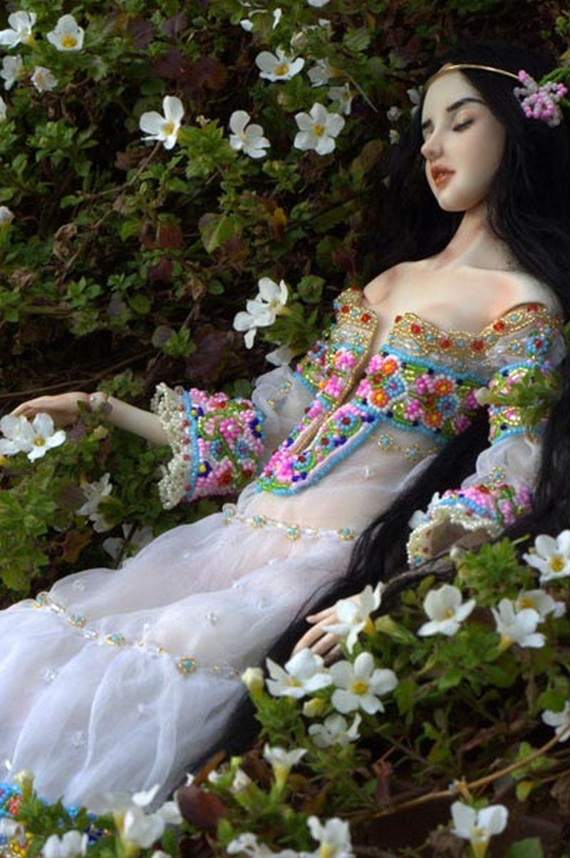 adelaparvu.com despre papusi din portelan, Enchanted Doll, artist Marina Bychkova, in foto model Snowwhite