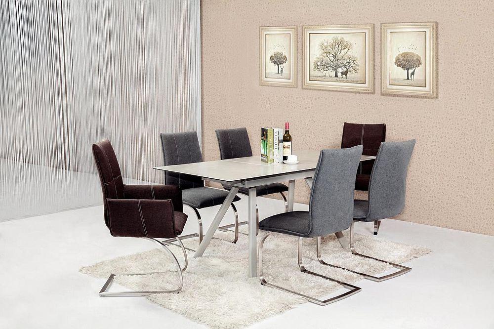 Masă extensibilă Emil vezi detalii și preț AICI, scaun Mila vezi detalii și preț AICI.