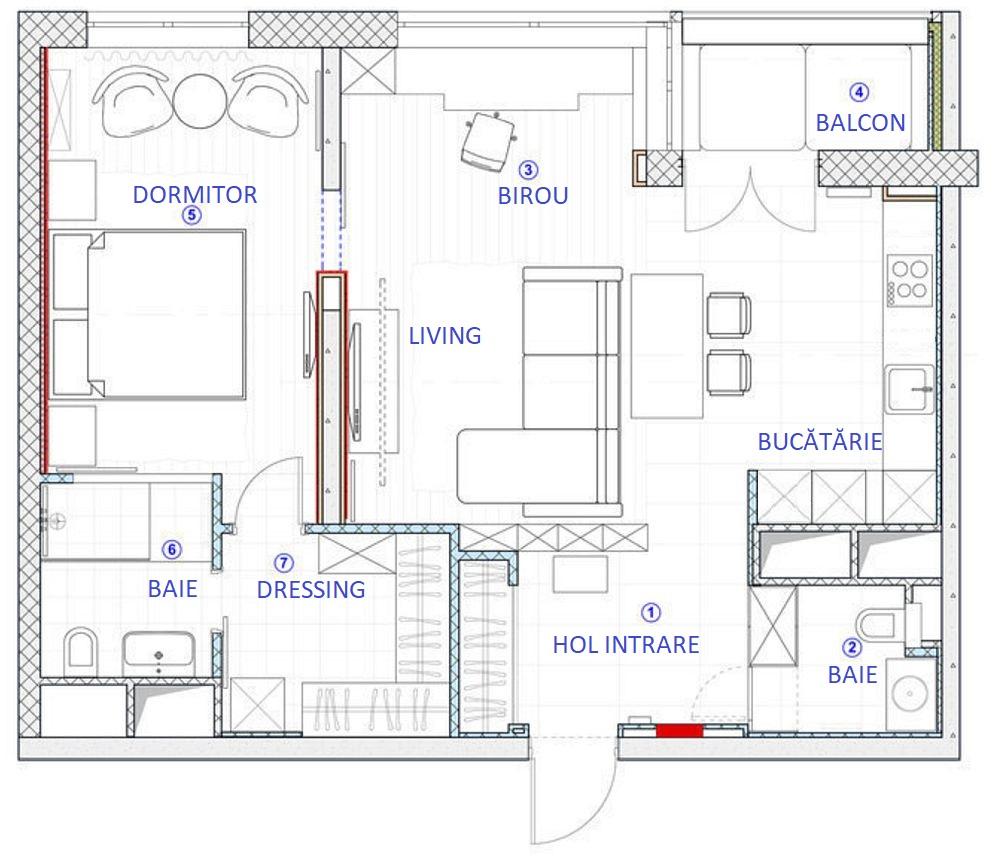 adelaparvu.com despre apartament 2 camere 69 mp in stil loft, design Olga Rayskaya (1)