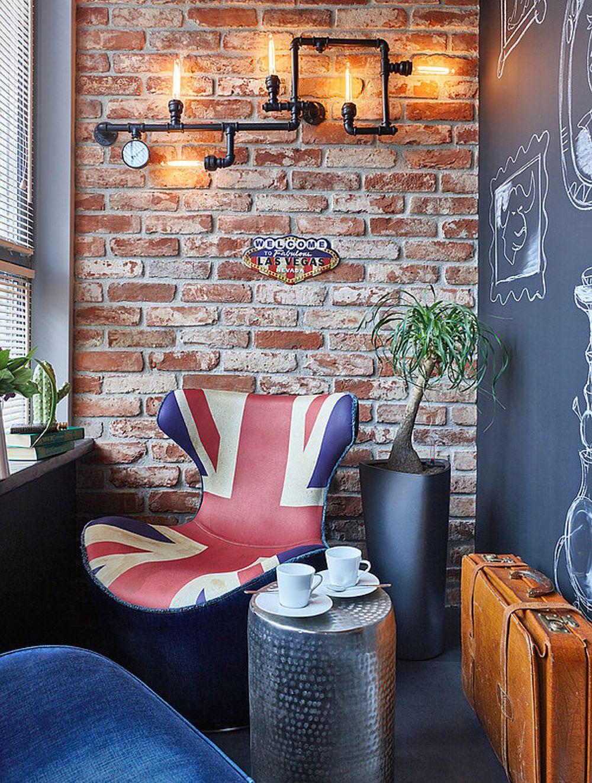 Balconul este tratat ca și o încăpere destinată lecturii, conversației și relaxării. A fost lăsat ca spațiu închis pentru că aici se poate fuma.