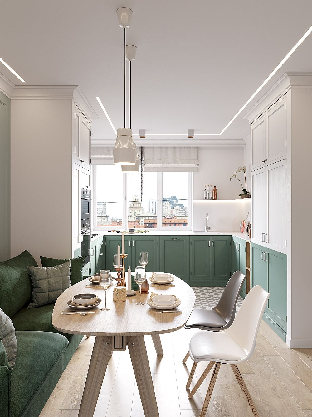 adelaparvu.com despre bucatarie si living in 16 mp, design interior Cartelle Design (2)