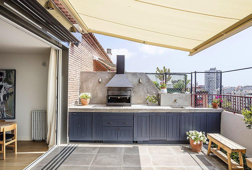 adelaparvu.com despre duplex cu terasa bucatarie de vara, design Abag Studio (5)