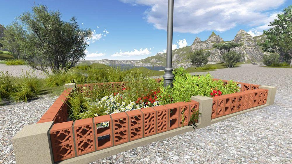 Elementele de gard pot fi folosite și în amenajarea spațiilor verzi.