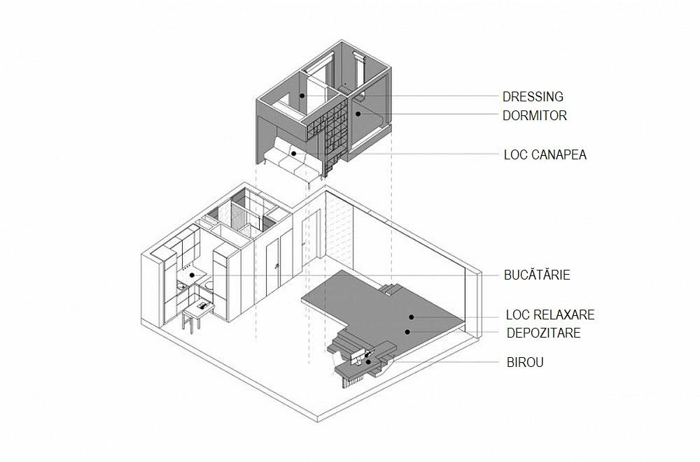 adelaparvu.com despre garsoniera 41 mp, design Ruetemple (23)