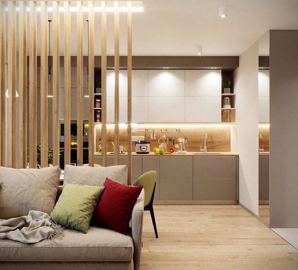 Bucătăria este organizată pe o singură latură, cu toate electrocasnicele încorporate.