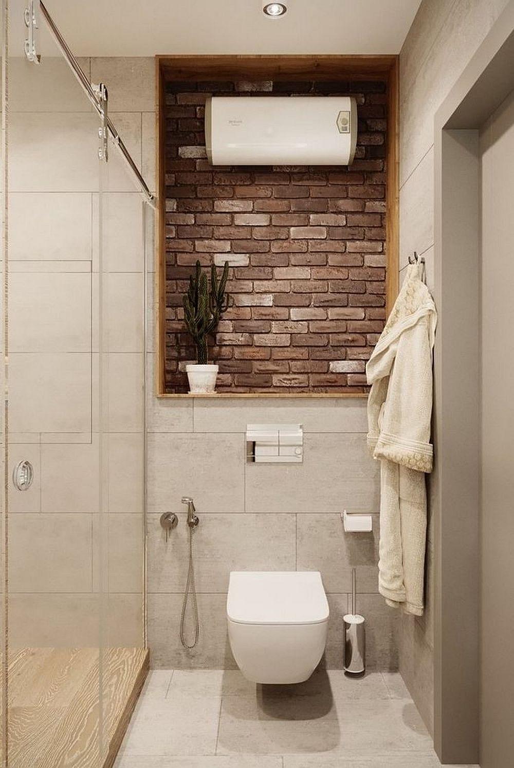 Jumătate din camera de baie este ocupată de cabina de duș. La bloc e mai dificil de realizat duș cu rigolă îngropată fără a intervenii asupra înălțimii pardoselii. Așa că între zona de duș și restul băii există o diferență de nivel. Pentru ca ea să fie sesizată, designerii au prevăzut placarea diferită a pardoselii.