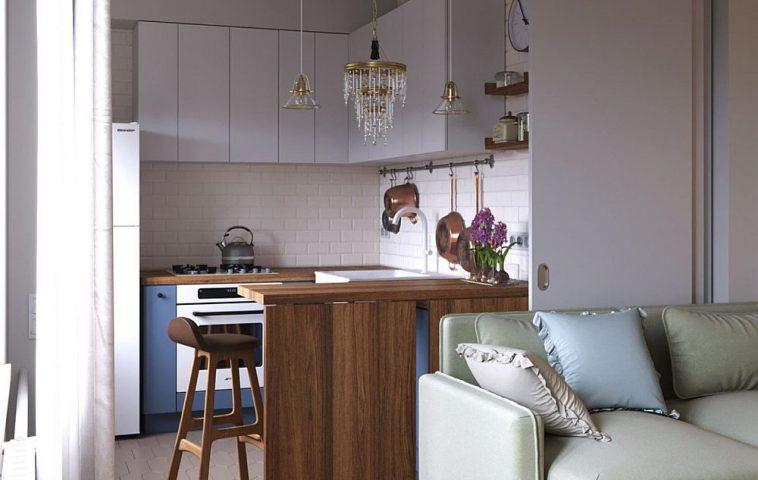 adelaparvu.com despre amenajare apartament semidecomandat 44 mp, Moscova, design interior Total Area (16)