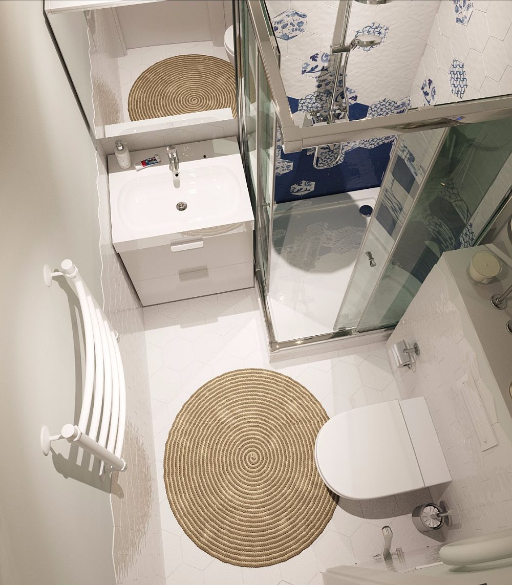 adelaparvu.com despre amenajare apartament semidecomandat 44 mp, Moscova, design interior Total Area (4)