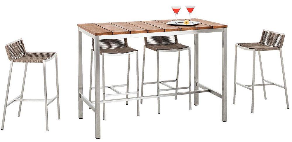 """Colecție de masă tip bar cu scaune """"Abaco"""". Vezi dimensiuni, materiale, preț AICI."""