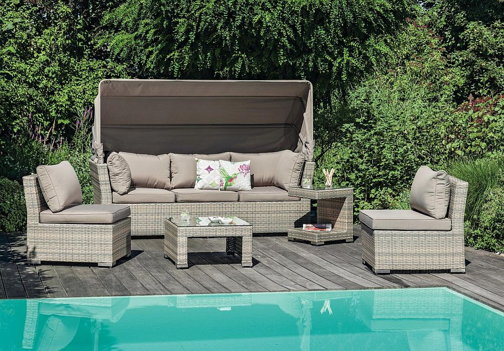 """Set lounge """"Bali"""". Piesele pot fi depozitate unele peste altele. Vezi dimensiuni, materiale, preț AICI."""