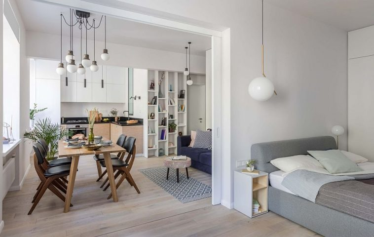 adelaparvu.com despre apartament 2 camere 51 mp, design Tochka Design, Foto Mikhail Stepanov (14)