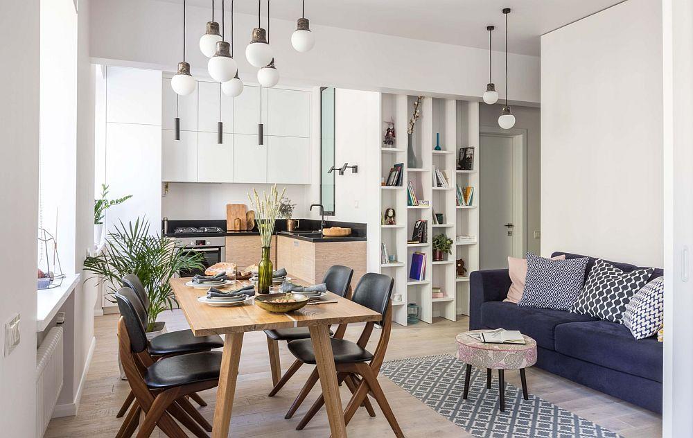 adelaparvu.com despre apartament 2 camere 51 mp, design Tochka Design, Foto Mikhail Stepanov (2)