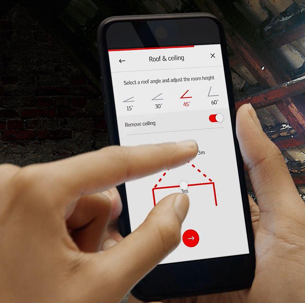 Aplicația MyDaylight de la VELUX te ghidează pas cu pas pentru a-ți configura spațiul viitoarei mansarde.