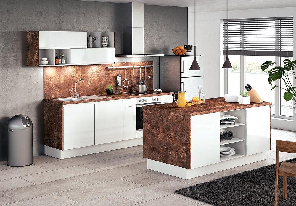 Bucătărie Impuls, fabricată în Germania. Dimensiuni – ansamblu bucătărie L 240 x A 60 cm și insula L 180 x A 90 cm. Preț 13.829 lei în loc de 16.269 lei. Reducerea de 15% este valabilă în perioada 20.06 – 20.07.2018 . Preţul nu include decoraţiunile, articolele sanitare şi aparatura electrocanică.