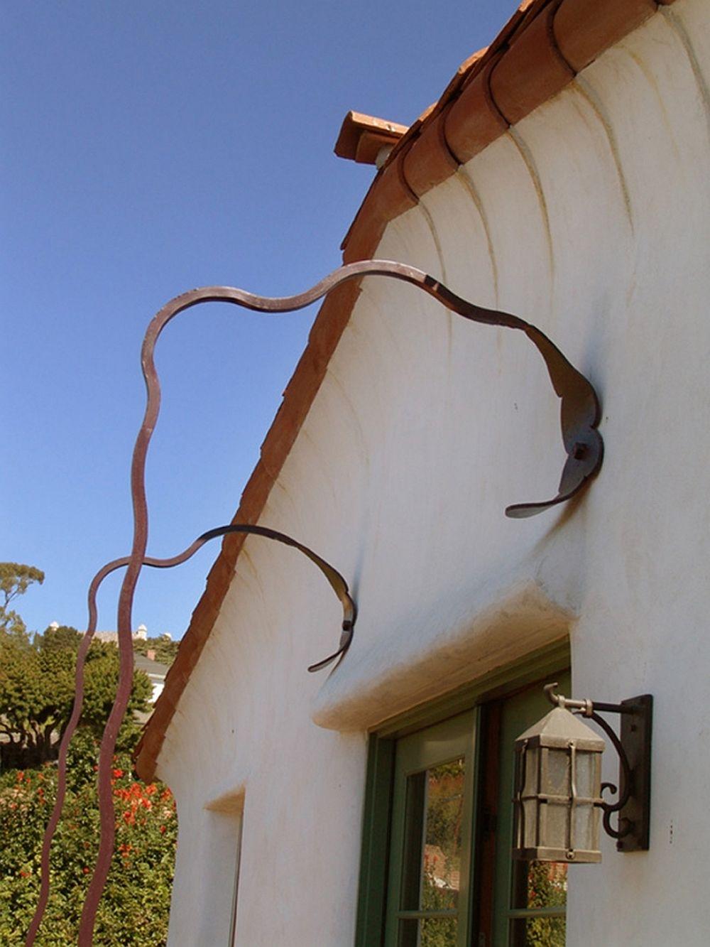 Detaliu prindere balcon Casa Bridge, Tierney, arhitect Jeff Shelton