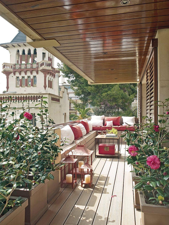 adelaparvu.com despre banchete amenajate pe terasa, idei pentru terase si balcoane, Foto ElMueble (11)