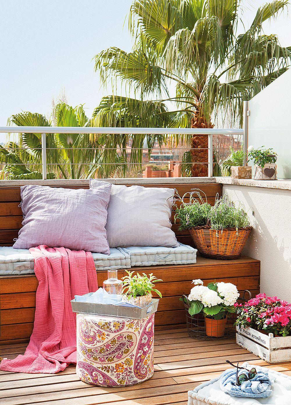 adelaparvu.com despre banchete amenajate pe terasa, idei pentru terase si balcoane, Foto ElMueble (2)