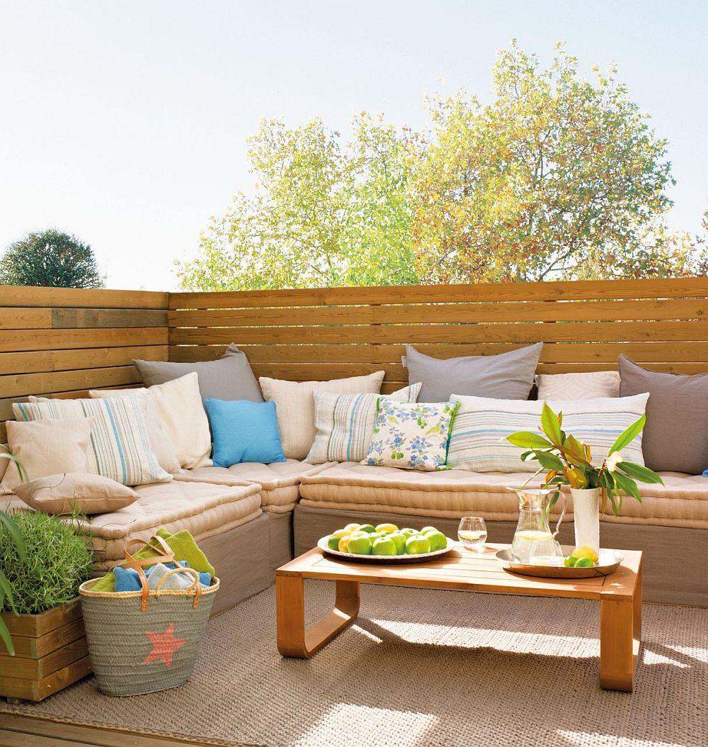 adelaparvu.com despre banchete amenajate pe terasa, idei pentru terase si balcoane, Foto ElMueble (21)