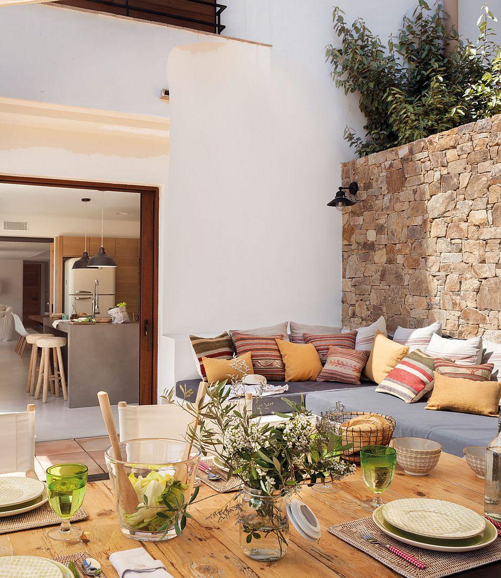 adelaparvu.com despre banchete amenajate pe terasa, idei pentru terase si balcoane, Foto ElMueble (23)