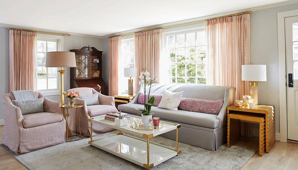 adelaparvu.com despre interioare cu roz pudrat si auriu, Foto Long and Long Design