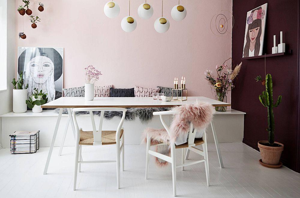 adelaparvu.com despre interioare cu roz pudrat si auriu, Foto Mia Mortensen