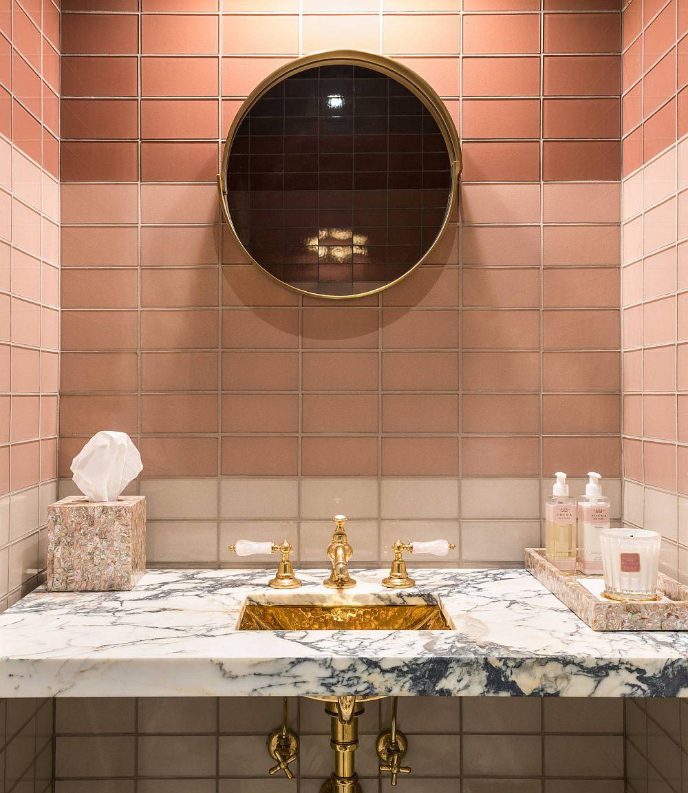 adelaparvu.com despre interioare cu roz pudrat si auriu, Foto Nicole Freezer Rubens