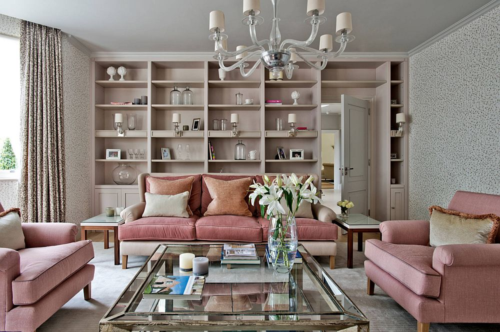 adelaparvu.com despre interioare cu roz pudrat si auriu, Foto Sims Hilditch designer