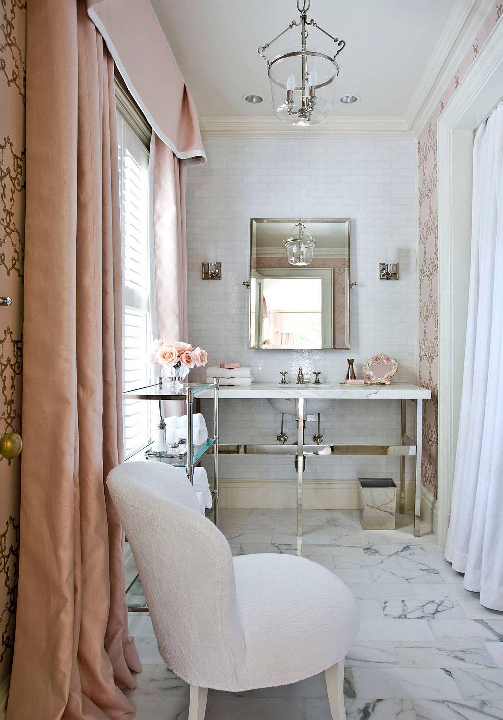 adelaparvu.com despre interioare cu roz pudrat si auriu, Foto Suzanne Kasler Interiors