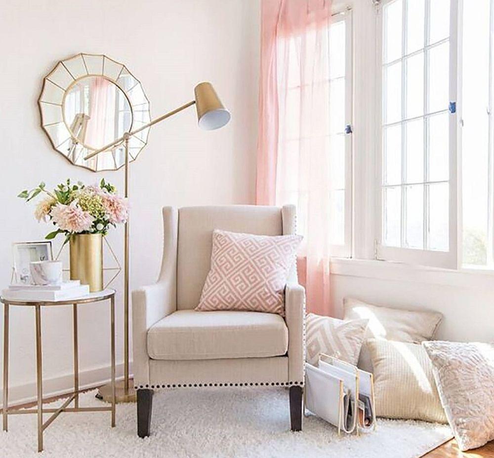 adelaparvu.com despre interioare cu roz pudrat si auriu, Foto Target Home