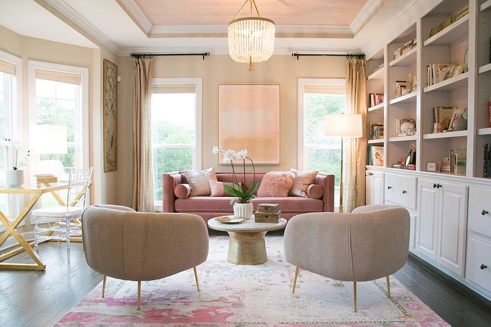 adelaparvu.com despre interioare cu roz pudrat si auriu, Foto Vivid Interiors