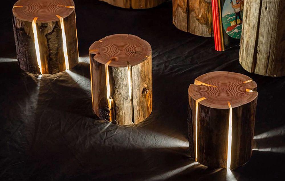 adelaparvu.com despre lampi din busteni, Cracked Log Lamps, designer Duncan Meerding (4)