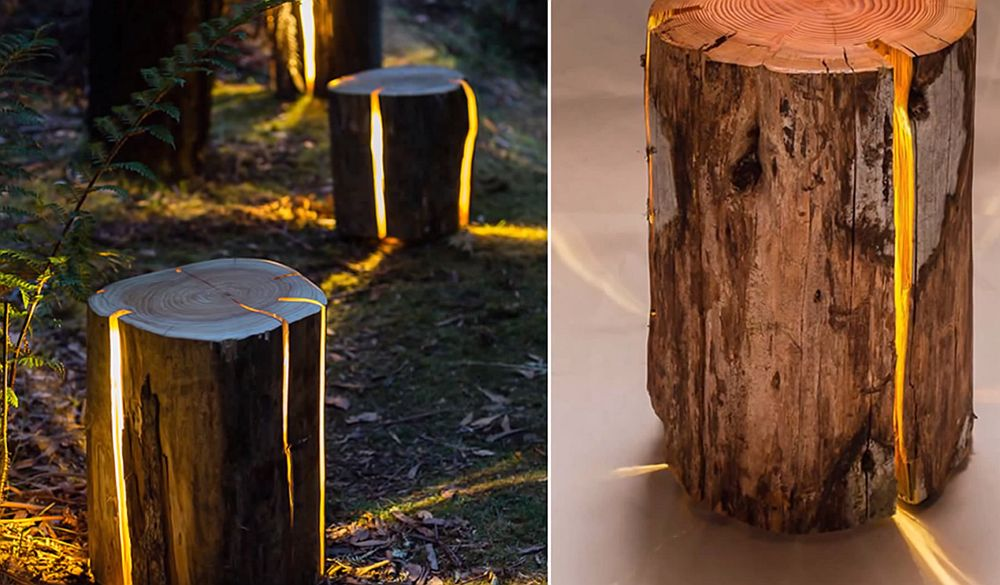 adelaparvu.com despre lampi din busteni, Cracked Log Lamps, designer Duncan Meerding (5)